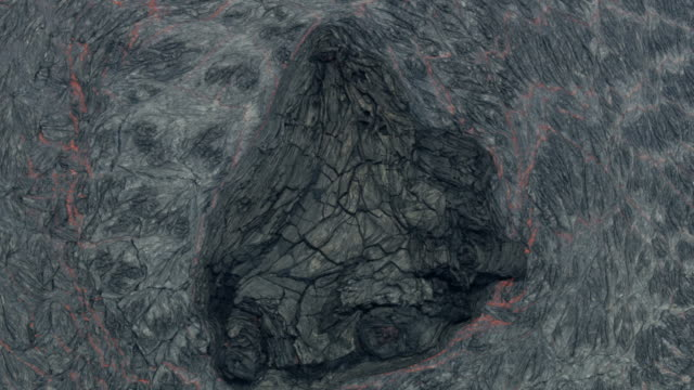 aerial volcanic magma lava rocks formed by lava - mineral stock videos & royalty-free footage