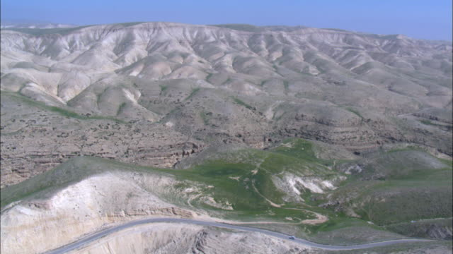 aerial wadi kelt in the northern judea desert, israel - palestinian territories stock videos and b-roll footage