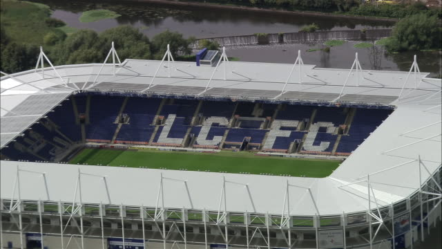 aerial walkers stadium empty / leicester, england - leicester stock videos & royalty-free footage