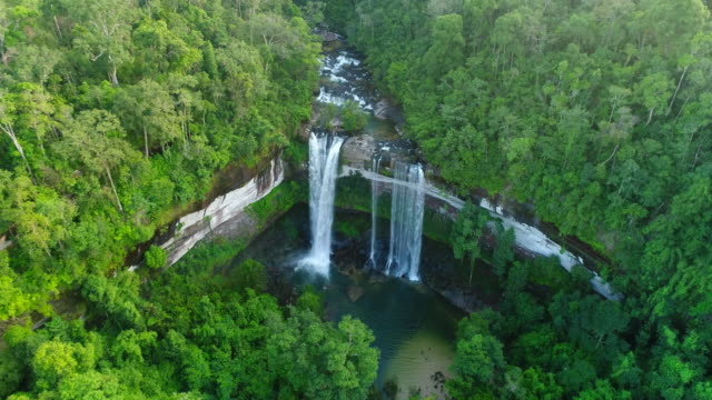 aerial waterfall - earth goddess stock videos & royalty-free footage