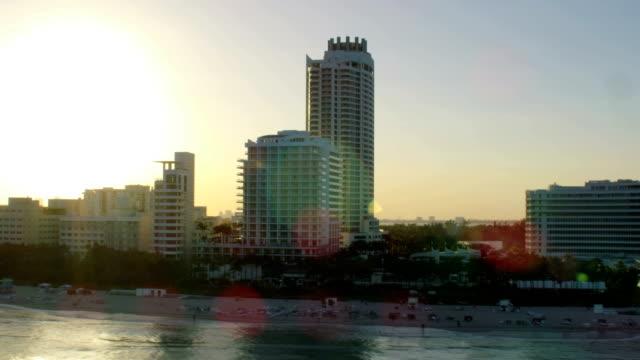 Aerial Waterfront Fontainebleau Hotel Resort Miami Florida America