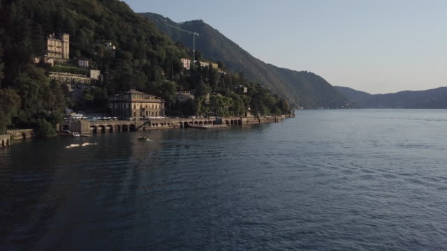 aerial, waterfront town in italy - western europe stock videos & royalty-free footage