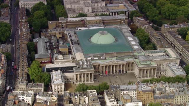 aerial wide shot british museum / london, england - british museum stock videos & royalty-free footage