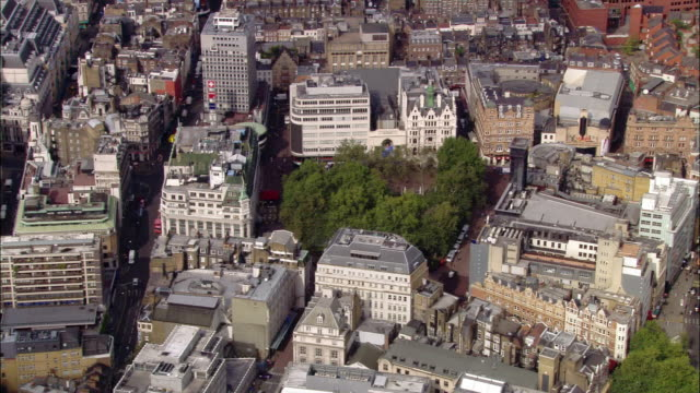 aerial wide shot pan leicester square / london, england - leicester square stock videos & royalty-free footage
