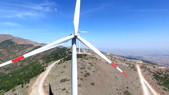 aerial wind turbines - wellington new zealand stock videos and b-roll footage
