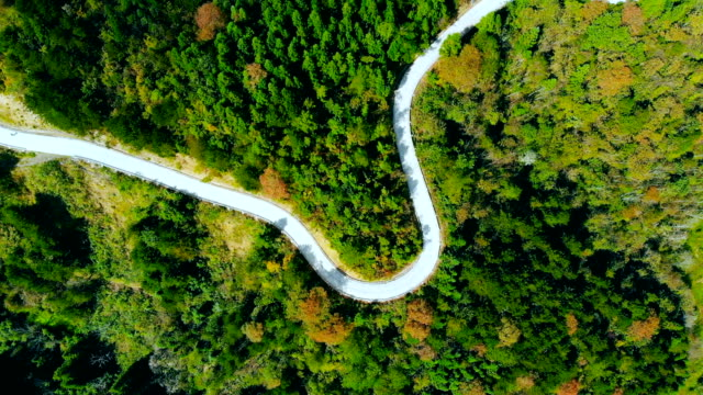aerial winding mountain road - winding road stock videos & royalty-free footage
