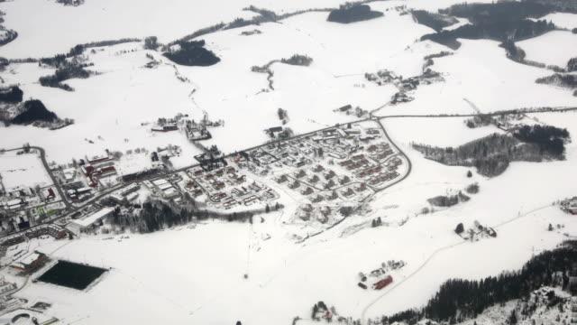 Aerial: Winter Landscape