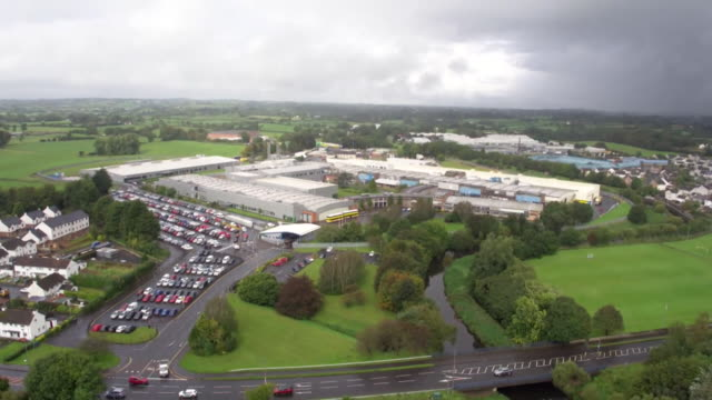 aerial wrightbus manufacturing plant in ballymena northern ireland on the day the bus maker went into administration - craftsperson stock videos & royalty-free footage