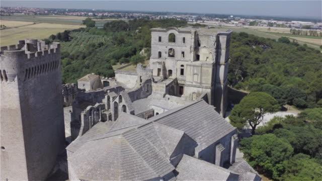 Aerial W/S Ancient Cloister Montmajour
