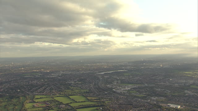 Aerial W/S North West London with Wembley Stadium
