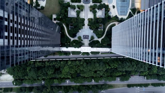 aerial wuxi coast city commercial buildings - wuxi stock videos and b-roll footage