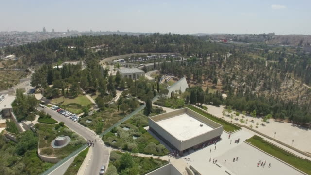 stockvideo's en b-roll-footage met aerial /yad vashem memorial, mount of remembrance, jerusalem - gedenkteken