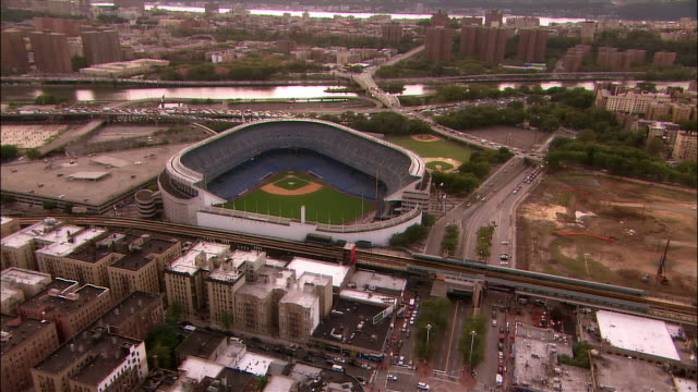 Aerial Yankee Stadium/ Bronx, New York