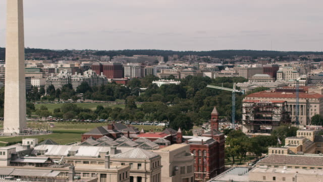 aerial zoom in on the white house from wide shot of dc - washington monument washington dc stock videos & royalty-free footage