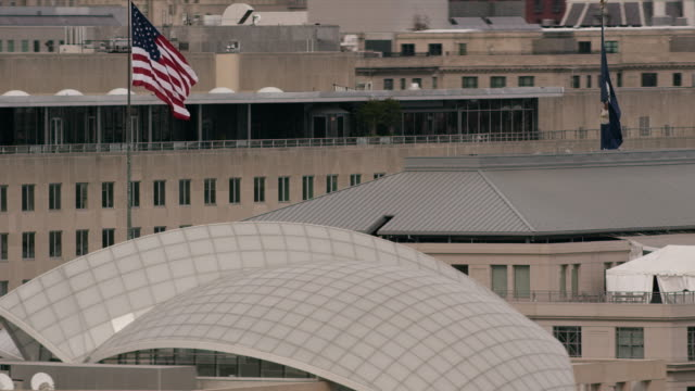 aerial zoom out of harry s. truman building in dc - harry truman stock videos and b-roll footage