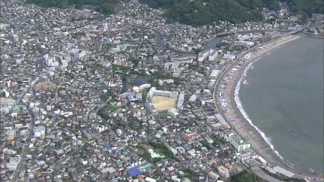 aerial zushi city in japan - satoyama scenery stock videos and b-roll footage