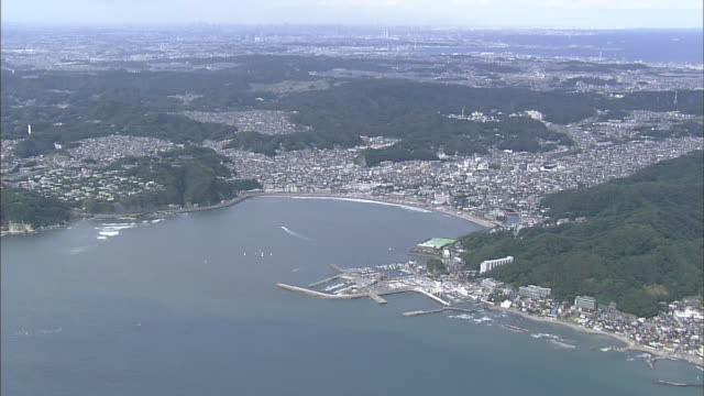 Aerial Zushi City In Japan
