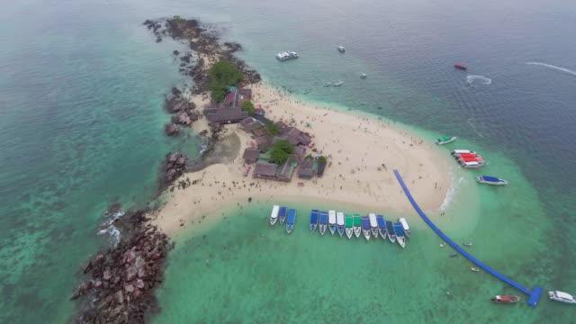 aerial:beach on the egg island - desert island stock videos & royalty-free footage