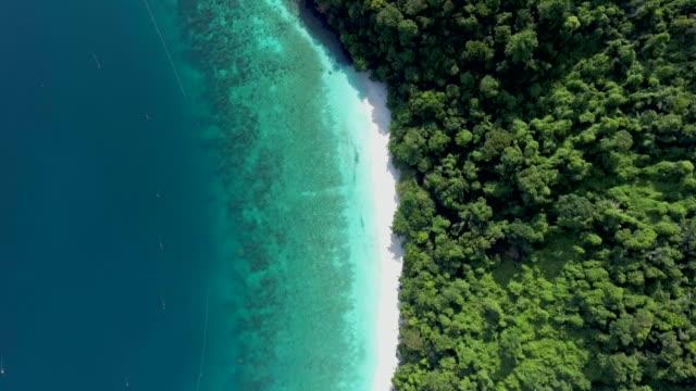 aerial:beach seasacpe - island stock videos & royalty-free footage