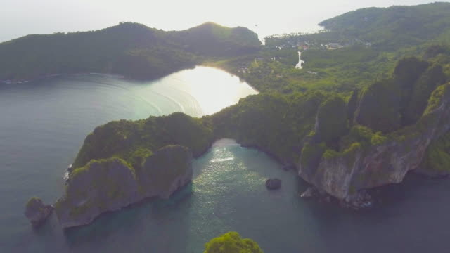 aerial:beautiful island - caribbean sea stock videos and b-roll footage