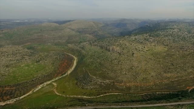 Aerial/Biblical landscape of the northern West Bank/ Beit Aryeh,  Samaria