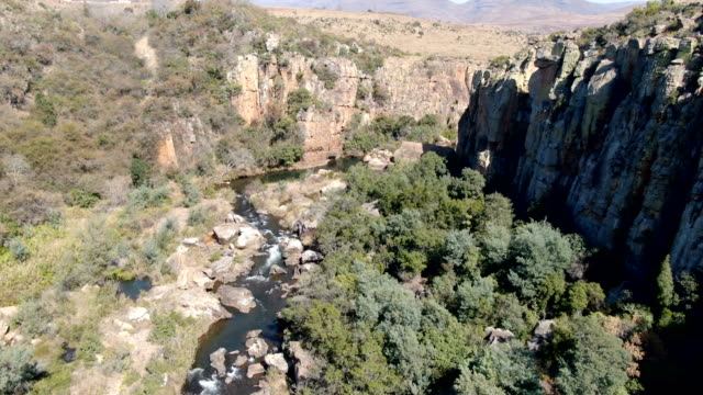 aerial-bourke's luck pot holes and canyon /blyde river canyon, south africa - drakensberg mountain range stock videos & royalty-free footage