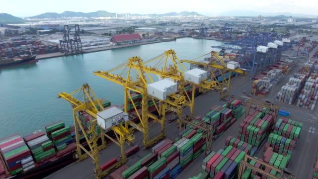 Aerial:Cargo Container Port
