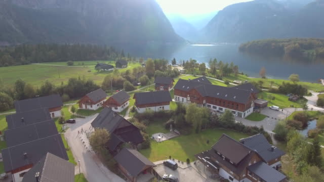 Aerial:Hallstatt Village and Lake