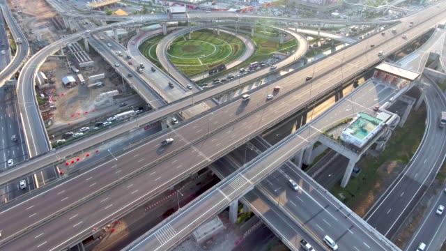 Antenne: Autobahn-Verkehr