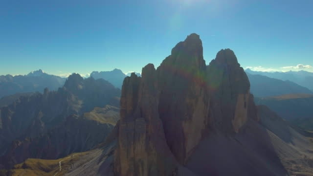 aerial:italy mountain dolomites alps - rock music stock videos and b-roll footage
