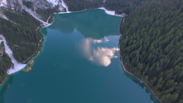 Aerial:Lake reflection