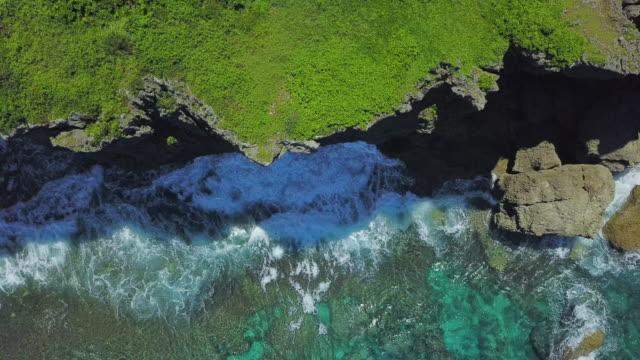 vidéos et rushes de antenne, océan, clif - falaise