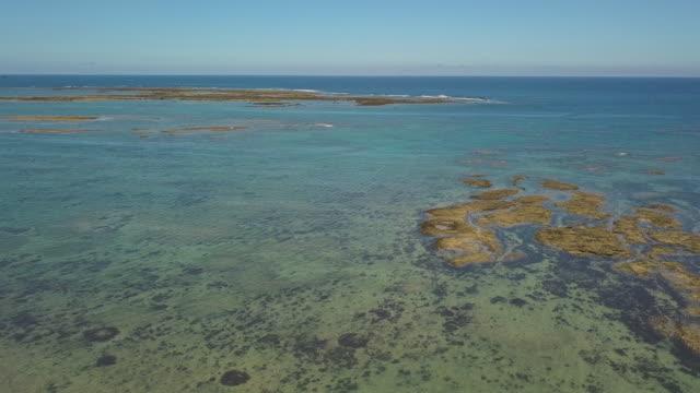 aerial,ocean,low tide, - low tide stock videos & royalty-free footage