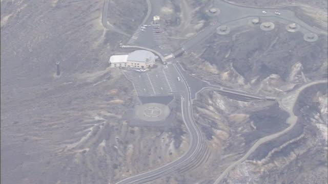 Aerials Active Volcano Aso