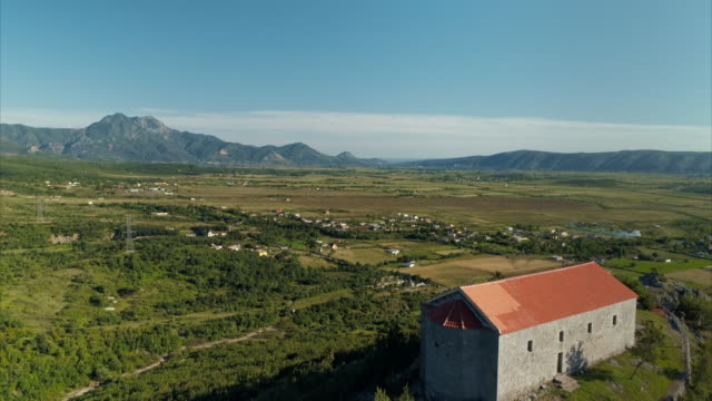 aerials and pov of rural albania - albania stock videos & royalty-free footage