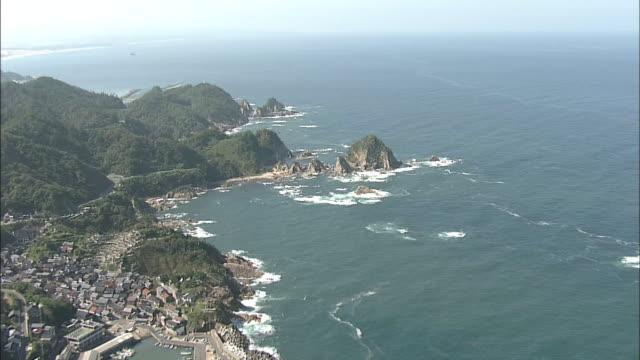 Aerials Coastline Of Tottori Japan