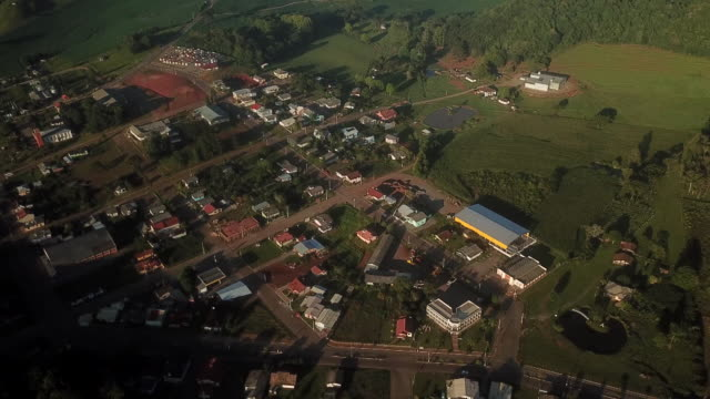 aerials from town and farms facing economic crisis guabiju rio grande do sul brazil on friday february 14 2020 - cement mixer stock videos & royalty-free footage