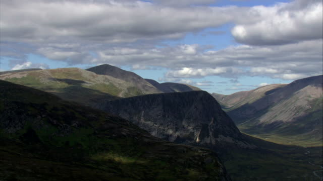 aerials glenlivet, scotland - scottish highlands stock videos & royalty-free footage