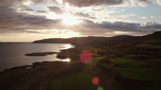 aerials isle of mull coastline, scotland - hebrides stock videos & royalty-free footage