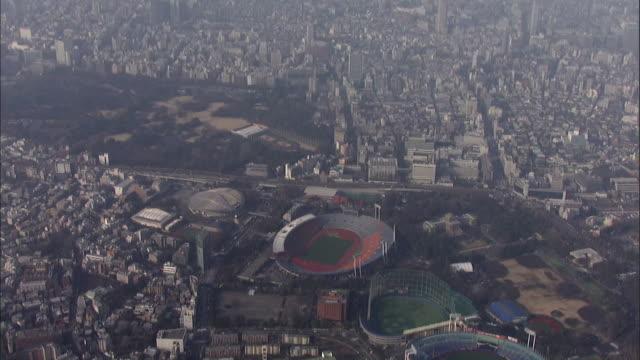 aerials national olympic stadium in tokyo - basebollplan bildbanksvideor och videomaterial från bakom kulisserna