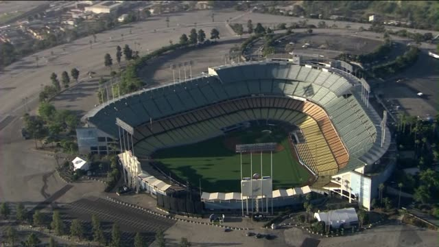 Aerials of Dodger Stadium