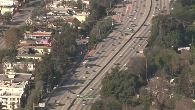 Aerials of Highway 134 in Burbank on February 20 2013 in Burbank California