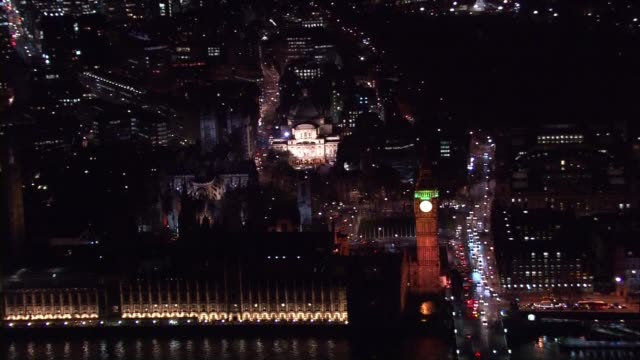 Aerials of London including City of London and Westminster AIR VIEWS AERIALS of Westminster Big Ben