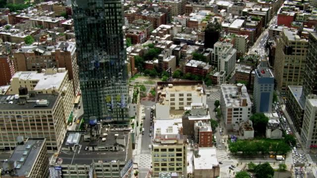 Aerials of New York City, Manhattan, Trump Soho Building, Soho