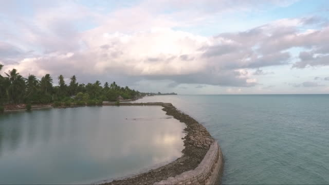 aerials of south pacific islands. - micronesia stock videos & royalty-free footage