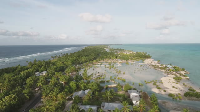 aerials of south pacific islands. - coastal feature stock videos & royalty-free footage