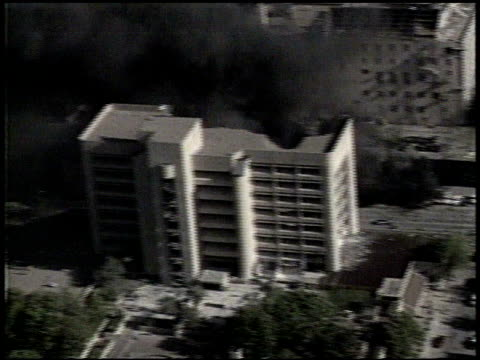 / aerials of the alfred p murrah federal building, target of timothy mcveigh's oklahoma city bombing attack. aerials of oklahoma city bombing on... - oklahoma city bombing stock videos & royalty-free footage