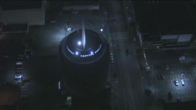 Aerials of the Capitol Records Tower