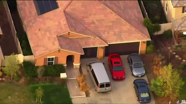 Aerials of the house where David and Louise Turpin abused their 13 children in Riverside California