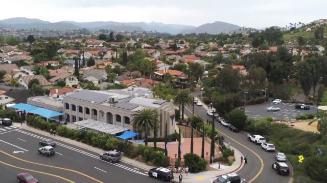 aerials of the us synagogue that was the site of the latest deadly shooting on saturday which left one person dead and three wounded when a gunman... - passover stock videos and b-roll footage